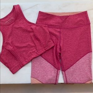 Outdoor Voices matching pink set | sz small PINK